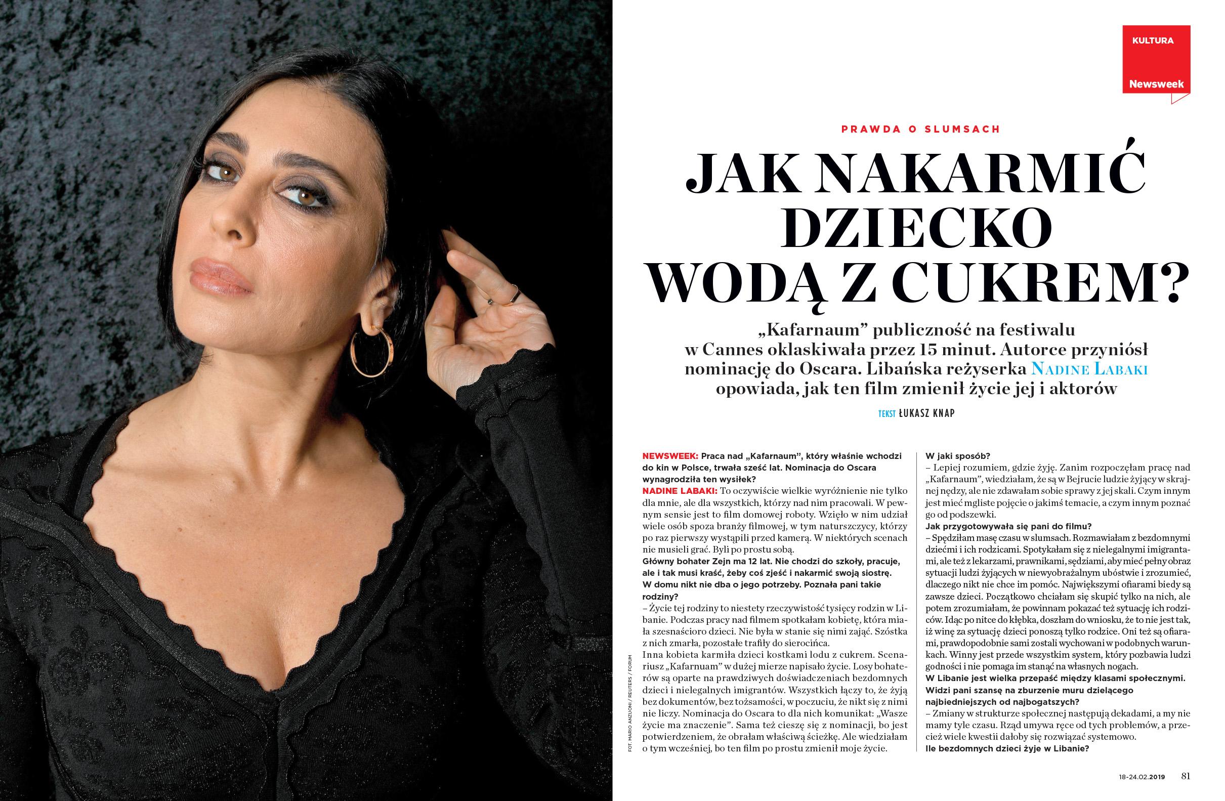 """Jaka nakarmić dziecko wodą z cukrem? Wywiad z Nadine Labaki, reżyserką """"Kafarnaum"""""""